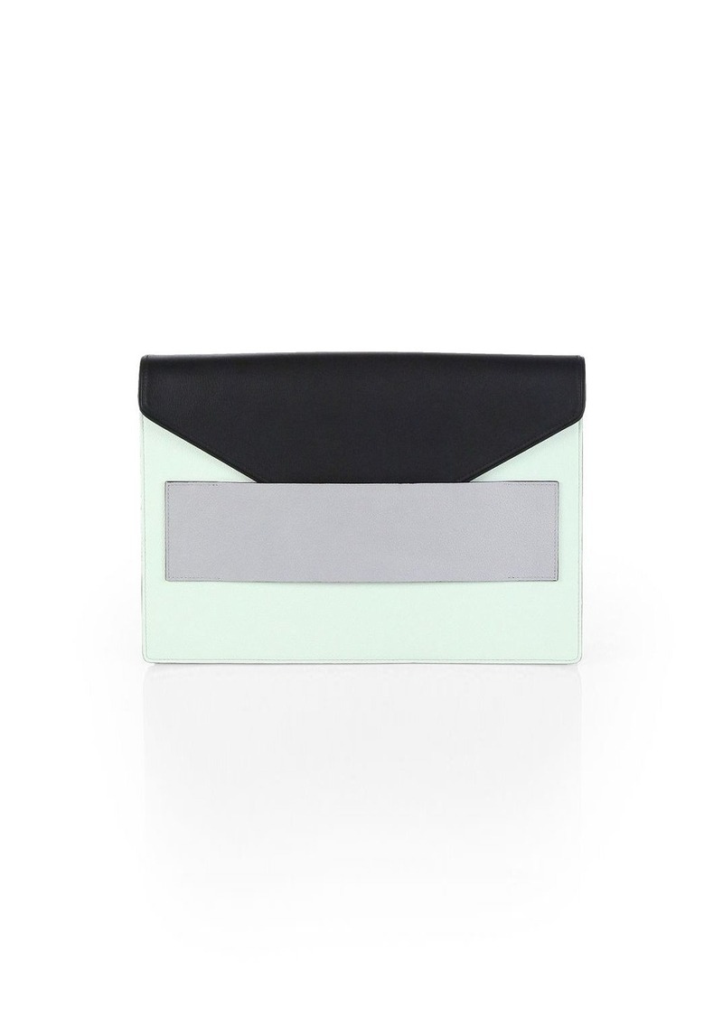Narciso Rodriguez Large Colorblock Envelope Clutch