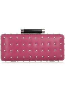 Diane von Furstenberg Tonda studded leather clutch