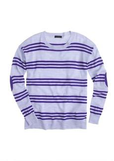 Merino wool triple-stripe elbow-patch sweater