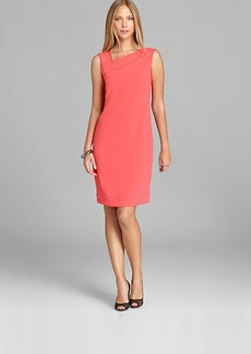 DKNY Sleeveless Dress with Stretch Mesh Insets