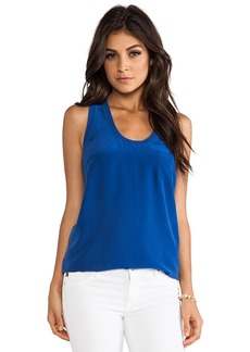 Joie Alicia Silk Tank in Blue