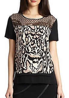 Diane von Furstenberg Becky Stretch-Silk Top