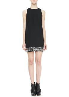 Cynthia Steffe Hartley Crystal-Bottom Shift Dress