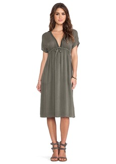 James Perse Empire Dress in Olive