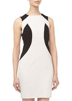 Marc New York by Andrew Marc Two-Tone Paneled Sheath Dress, Clay/Black