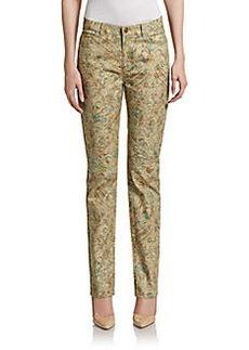 Lafayette 148 New York Printed Slim-Leg Jeans
