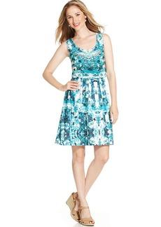 Style&co. Printed Blouson Dress