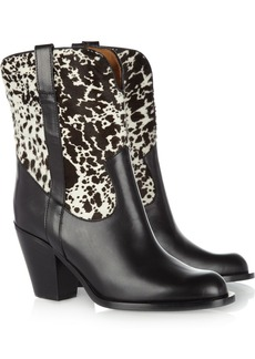 Michael Kors Leather and calf hair cowboy boots