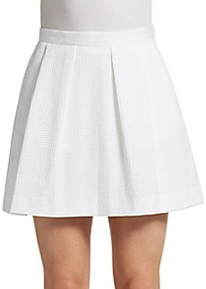 French Connection Textured Box-Pleat Mini Skirt