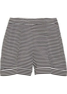 Oscar de la Renta Striped silk-faille shorts