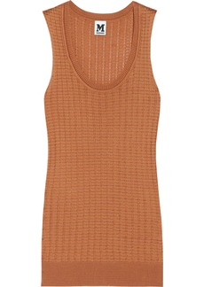 M Missoni Knitted cotton-blend top