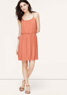 Shirred Spaghetti Strap Dress