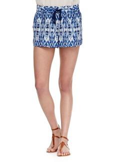 Joie Layana Drawstring Silk Shorts