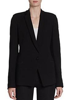Proenza Schouler Leather-Trim Suiting Blazer