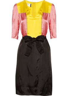 Marni Color-block satin dress