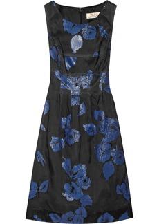 Lela Rose Embroidered silk-blend dress