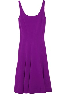 Oscar de la Renta Wool-blend jersey dress