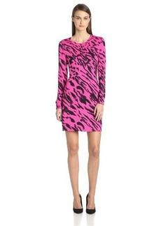 Kensie Women's Streaked Animal Dress