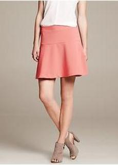 Coral Ponte Fit-and-Flare Skirt