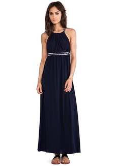 T-Bags LosAngeles Cross Back Maxi Dress in Navy