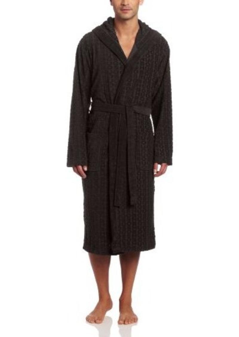 hugo boss boss hugo boss men 39 s hooded logo robe. Black Bedroom Furniture Sets. Home Design Ideas