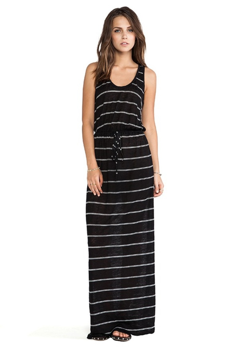 Joie Kimani Mini Stripe Maxi Dress in Black