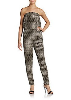 Saks Fifth Avenue RED Strapless Printed Jumpsuit