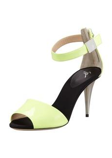 Giuseppe Zanotti Mid-Heel Neon Sandal, Yellow