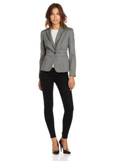 Jones New York Women's Emma Birdseye Waist Seam Jacket