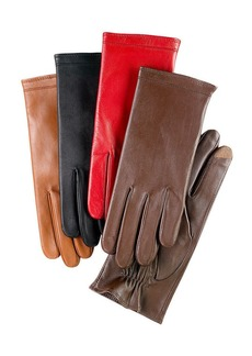 Charter Club Fleece Lined Tech Touch Leather Gloves