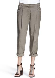 Brunello Cucinelli Slouchy Single-Pleat Pants