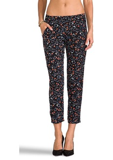 Ella Moss Posy Floral Pants in Black