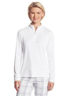 Cutter & Buck Women's Drytec Choice Long Sleeve Zip Mock Neck Top