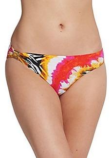 Natori Mixed-Print Bikini Bottom