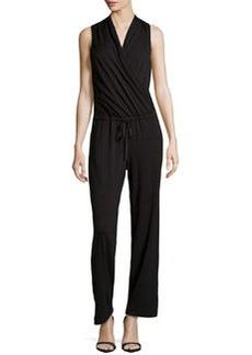 Max Studio Wrap-Front Jersey Jumpsuit, Black