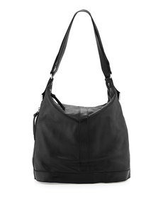 Foley + Corinna Framed Leather Convertible  Backpack, Black