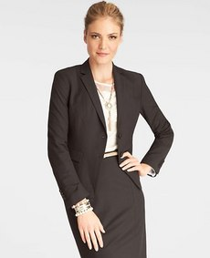 All-Season Stretch Seamed Two Button Jacket