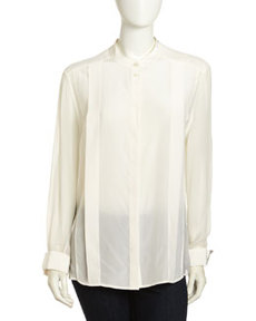 Paper Denim & Cloth Irving Silk Blouse, White
