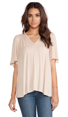 Rachel Pally Rib Highway Top in Beige
