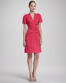 Lafayette 148 New York Rae Two-Way-Zip Dress