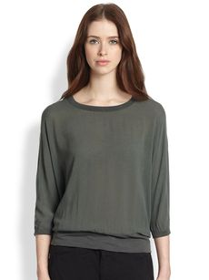 James Perse Dolman-Sleeved Jersey Sweatshirt