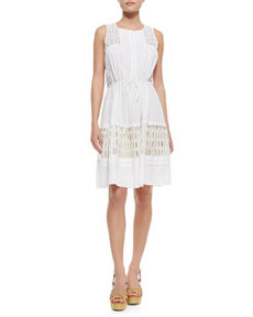 Voile & Lace Drawstring Dress   Voile & Lace Drawstring Dress