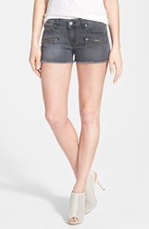 Paige Denim 'Indio' Zip Detail Cutoff Denim Shorts (Atwater)