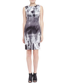 Emory Geometric Print Sheath Dress   Emory Geometric Print Sheath Dress