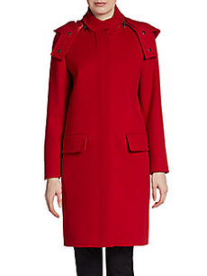 MaxMara Lawia Wool & Cashmere Hooded Coat