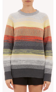 Proenza Schouler Degradé Stripe Pullover Sweater