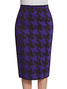 Michael Kors Houndstooth Pencil Skirt