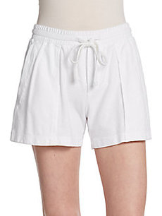 James Perse Pleated Surplus Drawstring Shorts