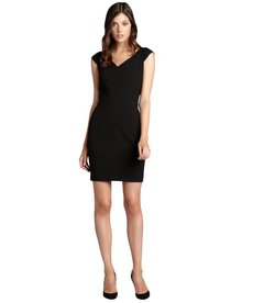 Marc New York black cap sleeve sweetheart neck sheath dress