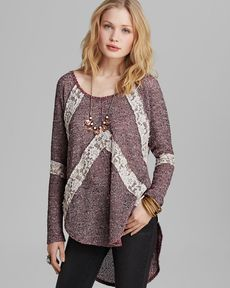 Free People Tee - Flying V Hacci Knit